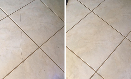 Optional Tiling Services - cracked tiles